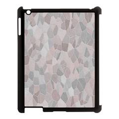 Pattern Mosaic Form Geometric Apple Ipad 3/4 Case (black)