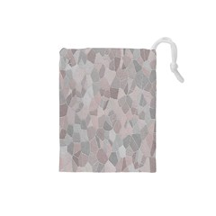 Pattern Mosaic Form Geometric Drawstring Pouches (small)  by Nexatart