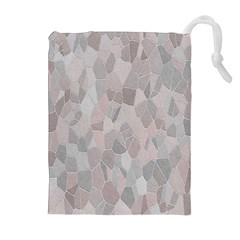 Pattern Mosaic Form Geometric Drawstring Pouches (extra Large)