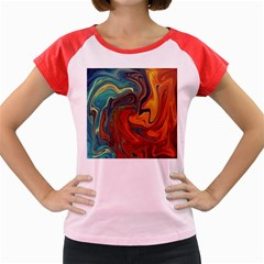 Creativity Abstract Art Women s Cap Sleeve T Shirt