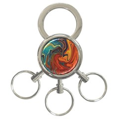 Creativity Abstract Art 3 Ring Key Chains