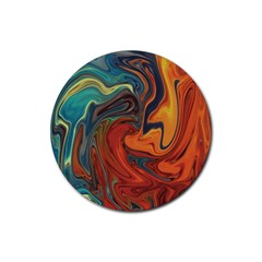 Creativity Abstract Art Rubber Round Coaster (4 Pack)  by Nexatart
