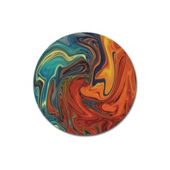 Creativity Abstract Art Magnet 3  (round)