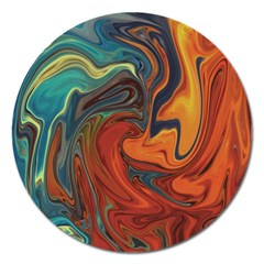 Creativity Abstract Art Magnet 5  (round)