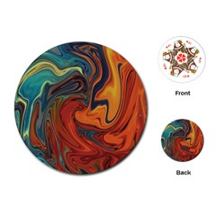 Creativity Abstract Art Playing Cards (round)