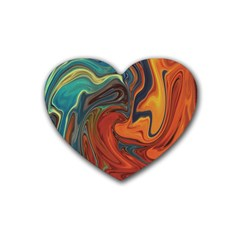 Creativity Abstract Art Rubber Coaster (heart)