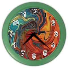 Creativity Abstract Art Color Wall Clocks