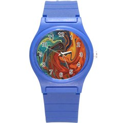 Creativity Abstract Art Round Plastic Sport Watch (s)