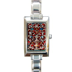 Decoration Art Pattern Ornate Rectangle Italian Charm Watch