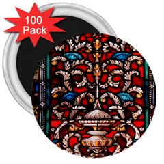 Decoration Art Pattern Ornate 3  Magnets (100 Pack)