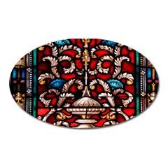 Decoration Art Pattern Ornate Oval Magnet