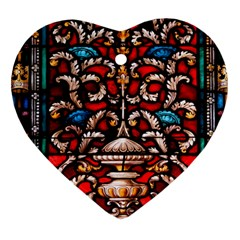 Decoration Art Pattern Ornate Heart Ornament (two Sides)