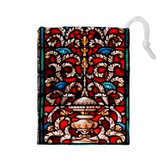 Decoration Art Pattern Ornate Drawstring Pouches (large)