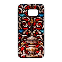 Decoration Art Pattern Ornate Samsung Galaxy S7 Edge Black Seamless Case