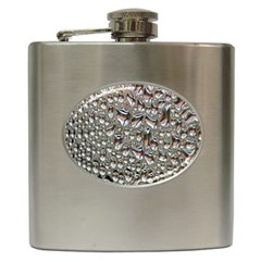 Droplets Pane Drops Of Water Hip Flask (6 Oz)