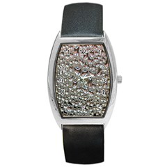 Droplets Pane Drops Of Water Barrel Style Metal Watch