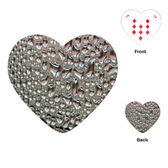 Droplets Pane Drops Of Water Playing Cards (heart)