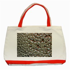 Droplets Pane Drops Of Water Classic Tote Bag (red)