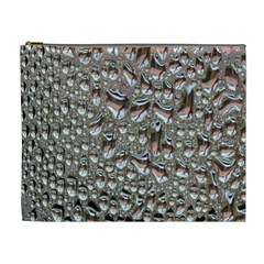 Droplets Pane Drops Of Water Cosmetic Bag (xl)