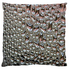 Droplets Pane Drops Of Water Large Flano Cushion Case (one Side) by Nexatart