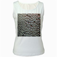 Droplets Pane Drops Of Water Women s White Tank Top