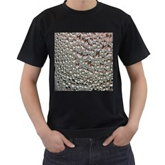 Droplets Pane Drops Of Water Men s T Shirt (black) (two Sided)