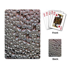 Droplets Pane Drops Of Water Playing Card