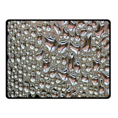 Droplets Pane Drops Of Water Fleece Blanket (small)