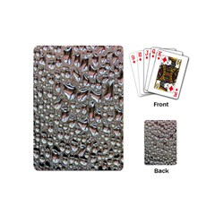 Droplets Pane Drops Of Water Playing Cards (mini)