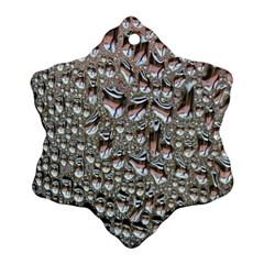 Droplets Pane Drops Of Water Ornament (snowflake)