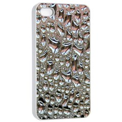 Droplets Pane Drops Of Water Apple Iphone 4/4s Seamless Case (white)