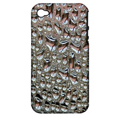 Droplets Pane Drops Of Water Apple Iphone 4/4s Hardshell Case (pc+silicone)