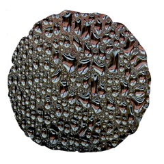 Droplets Pane Drops Of Water Large 18  Premium Flano Round Cushions