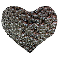 Droplets Pane Drops Of Water Large 19  Premium Flano Heart Shape Cushions