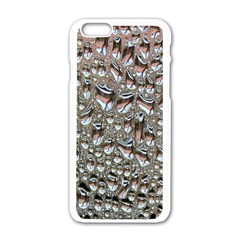 Droplets Pane Drops Of Water Apple Iphone 6/6s White Enamel Case