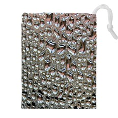 Droplets Pane Drops Of Water Drawstring Pouches (xxl)