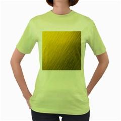 Golden Texture Rough Canvas Golden Women s Green T Shirt