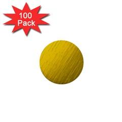Golden Texture Rough Canvas Golden 1  Mini Buttons (100 Pack)