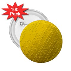 Golden Texture Rough Canvas Golden 2 25  Buttons (100 Pack)