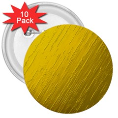 Golden Texture Rough Canvas Golden 3  Buttons (10 Pack)