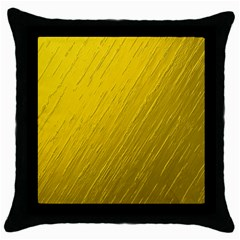 Golden Texture Rough Canvas Golden Throw Pillow Case (black)