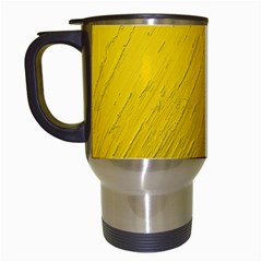 Golden Texture Rough Canvas Golden Travel Mugs (white)