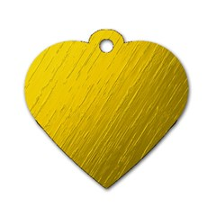 Golden Texture Rough Canvas Golden Dog Tag Heart (one Side)