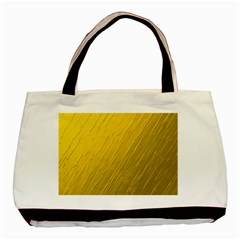 Golden Texture Rough Canvas Golden Basic Tote Bag (two Sides)