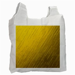 Golden Texture Rough Canvas Golden Recycle Bag (two Side)  by Nexatart