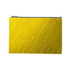 Golden Texture Rough Canvas Golden Cosmetic Bag (large)