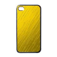 Golden Texture Rough Canvas Golden Apple Iphone 4 Case (black)