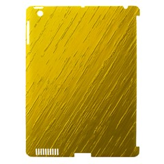 Golden Texture Rough Canvas Golden Apple Ipad 3/4 Hardshell Case (compatible With Smart Cover) by Nexatart