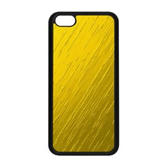 Golden Texture Rough Canvas Golden Apple Iphone 5c Seamless Case (black)