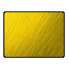 Golden Texture Rough Canvas Golden Double Sided Fleece Blanket (small)